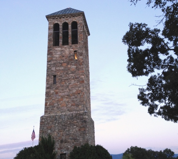 THE SINGING TOWER - Snapshot of 47 Bell Carillon at Luray, Virginia.